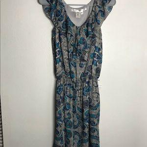 MAX STUDIO midi paisley/floral ruffle dress MD